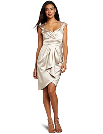 02e5711b51c Maggy London Women s Solid Stretch Satin Dress at Amazon Women s Clothing  store