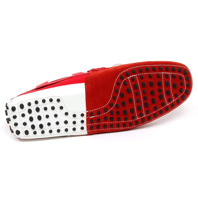 F0394 Schuhe Mocassino  Herren ROT/Weiß Tod'S Schuhe F0394 Tissue/Leder Schuhe Man Rosso/Bianco 82d531