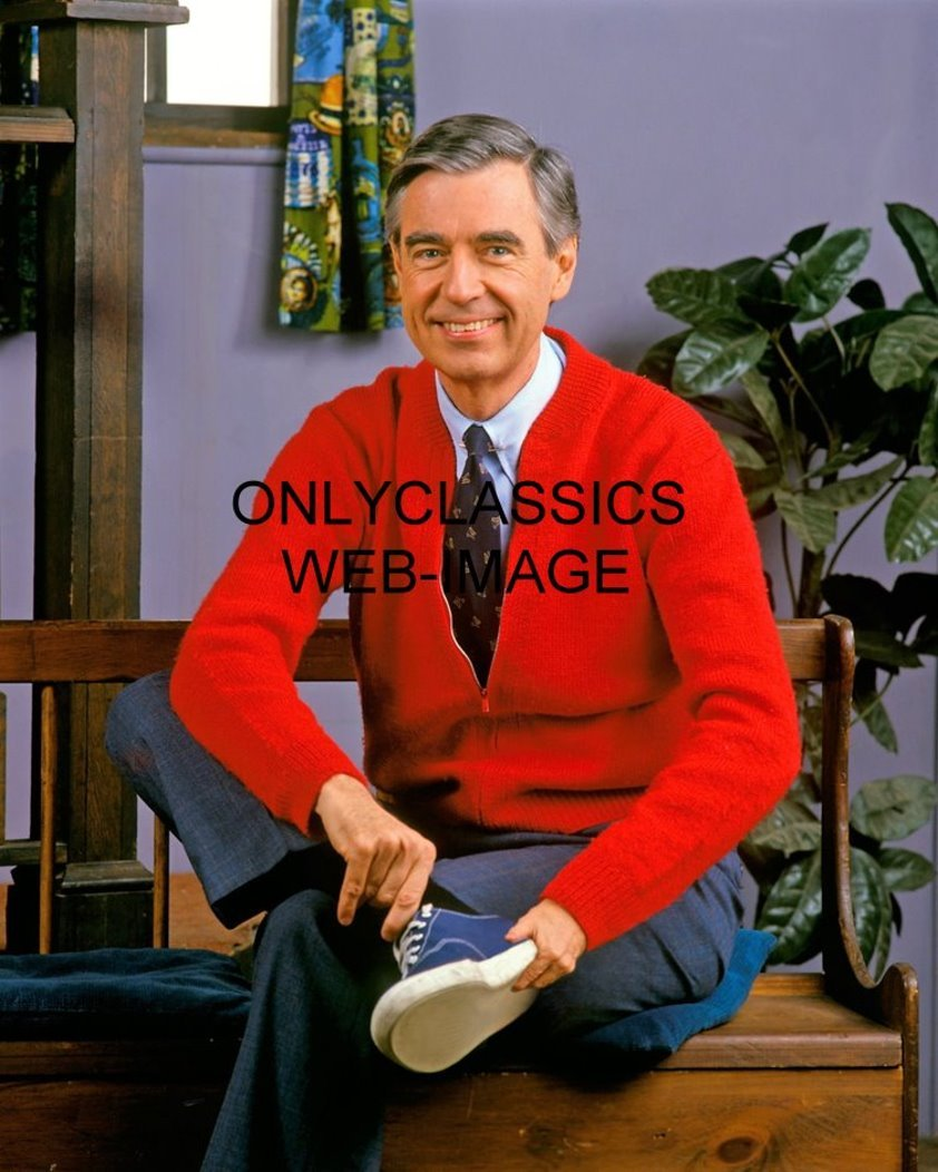 Onlyclassics Mister Fred Rogers 8x10 Photo Children Neighborhood Trolley Television Show 5137 0692636631743 Amazon Com Books