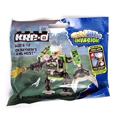 SDCC 2013 KRE-O Cityville Invasion Dr. Mayhem's Jewel Heist Figure Robot Vehicle Set A5839: Toys & Games