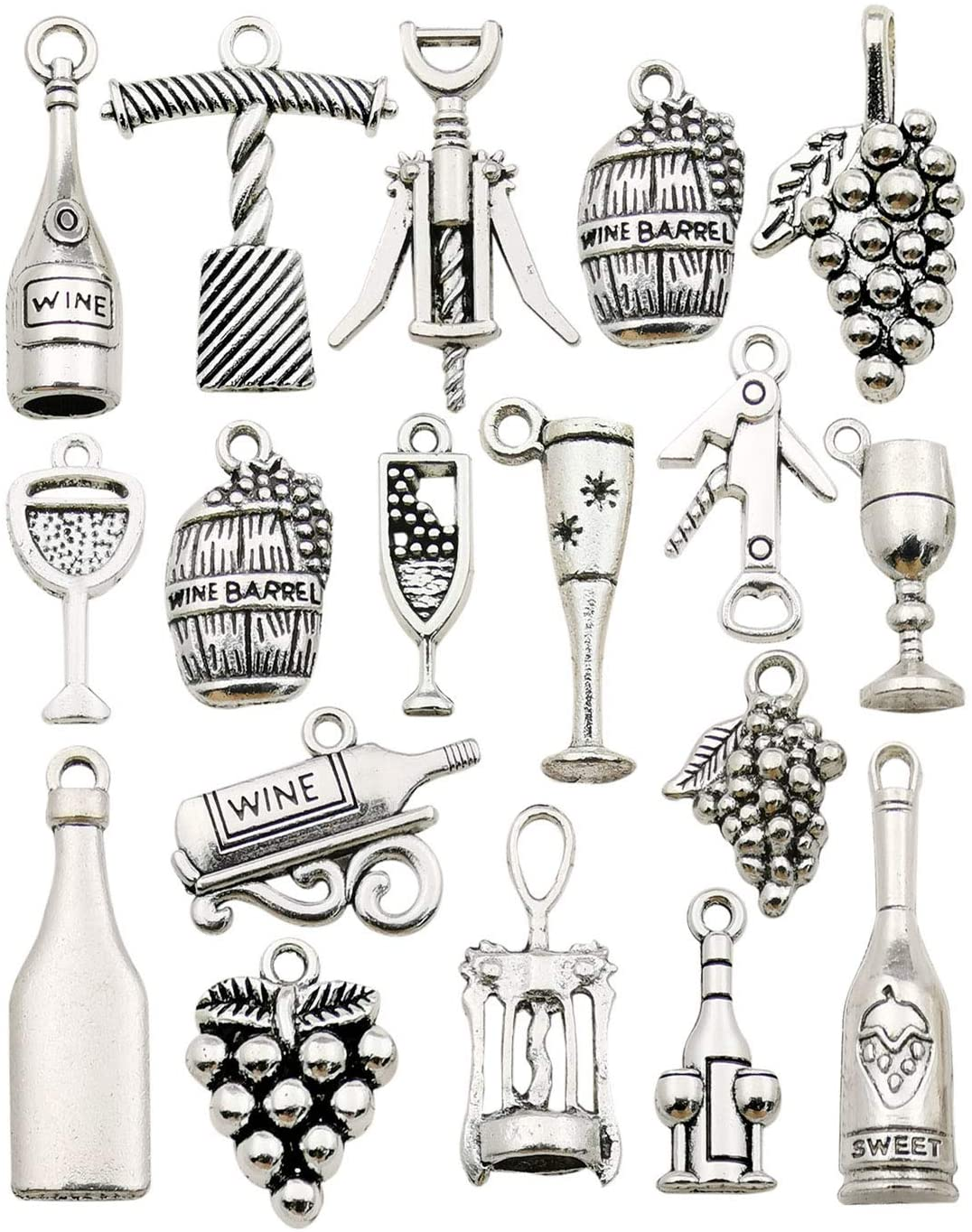 200 PiEcE LoT MiXeD ThEMe STyLeS SiLvER ChArMs PeNdAnTs CRaFT STaRTeR FaST SHiP