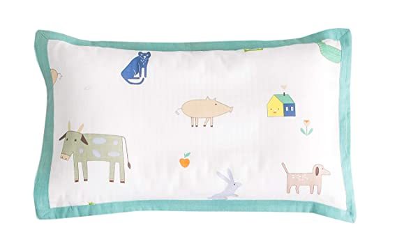 Baby Talk Cartoon Animals Sheep Pig Cow Cat 100/% Cotton Fabric