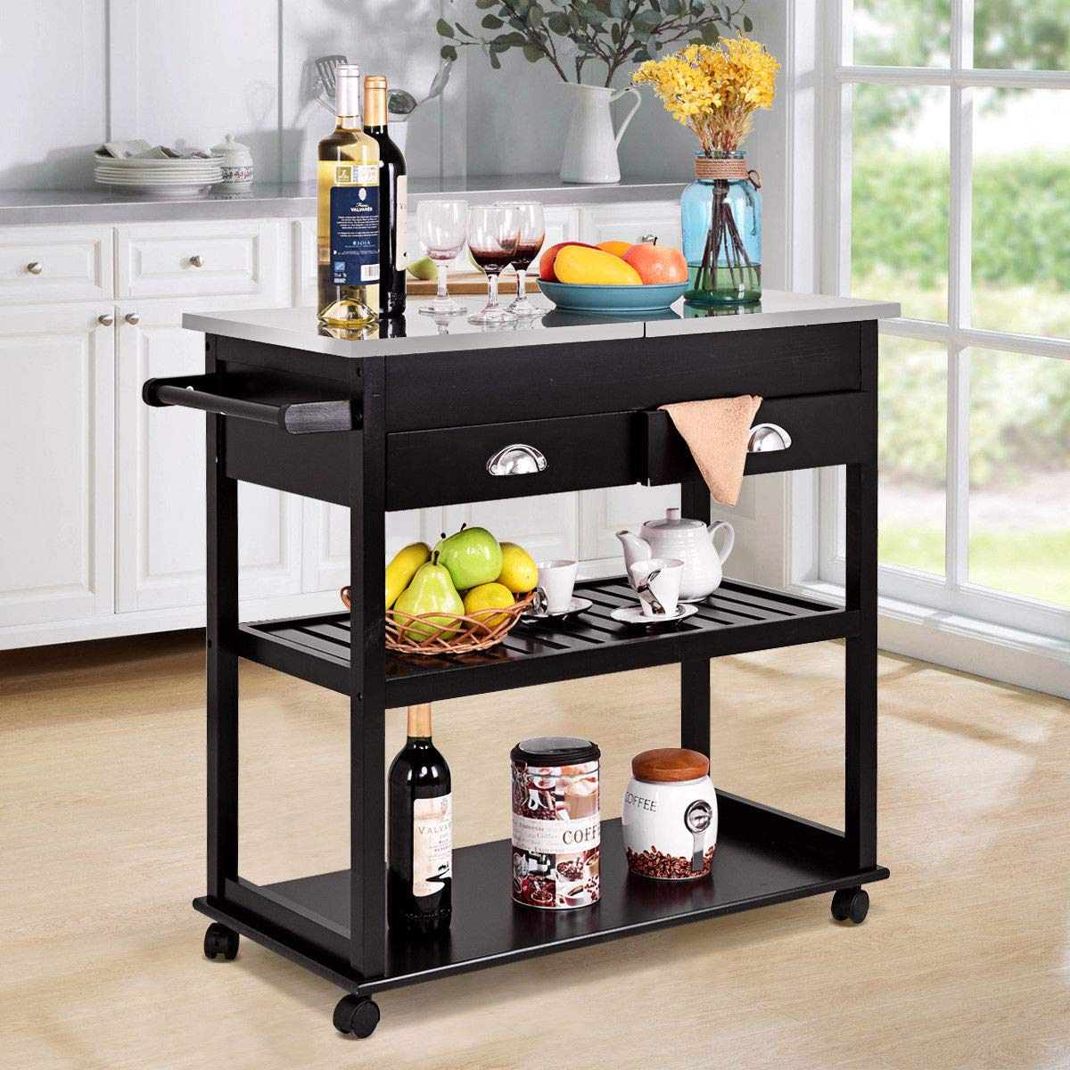 Amazon.com - Alek...Shop Modern Kitchen Trolley Cart ...
