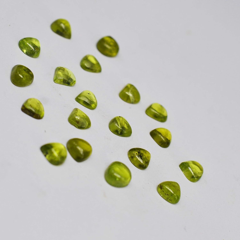 Meadows 0,70 kt Peridot 6 x 6 mm Herzform facettierter Edelstein nat/ürlicher Peridot Stein gr/üner Peridot Edelstein zur Schmuckherstellung 1 St/ück