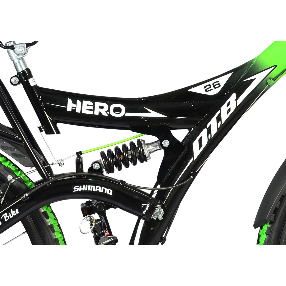 8cdbf571188 Buy Hero Ranger 18 Speed DTB Vx 26T Mountain Bike - Black and Green Online  at Low Prices in India - Amazon.in