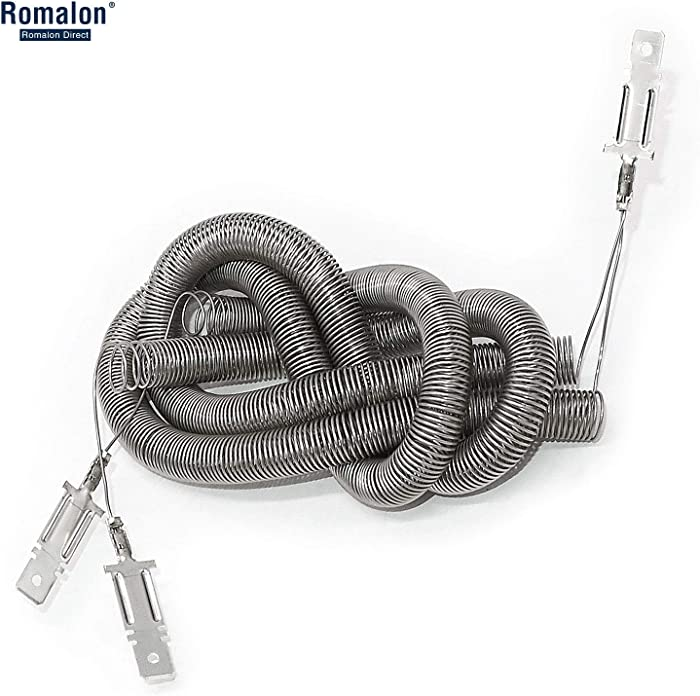 Romalon WE11X10007 Dryer Heater Heating Element Coil Kit for GE, Hotpoint, Part # 824395, AP2620171, AH265605, EAP265605, PS265605