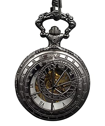 ShoppeWatch Pocket Watch Steampunk Wind Up Mechanical Skeleton Dial Reloj Bolsillo Esqueleto PW-181