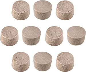 uxcell Wood Button Top Plugs 9/25 Inch Cherry Hardwood Furniture Plugs 1/4 Inch Height 50 Pcs