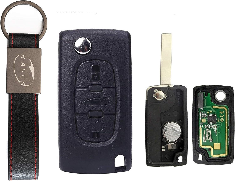 Schlüssel Fernbedienung Für Peugeot Citroen Mit Elektronik