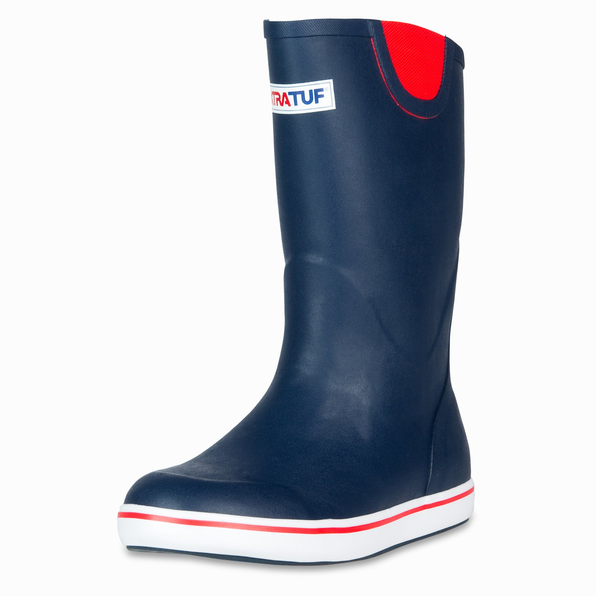 XTRATUF Performance Series 12'' Men's Full Rubber Deck Boots, Navy & Red (22732) by Xtratuf (Image #1)