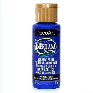 product image for DecoArt Americana Acrylic Paint, Ultra Marine, 2 oz, Ultramarine Blue