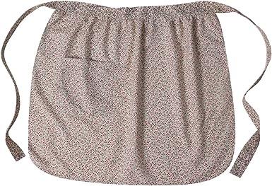 Cream apron Flower apron Fashion girl apron