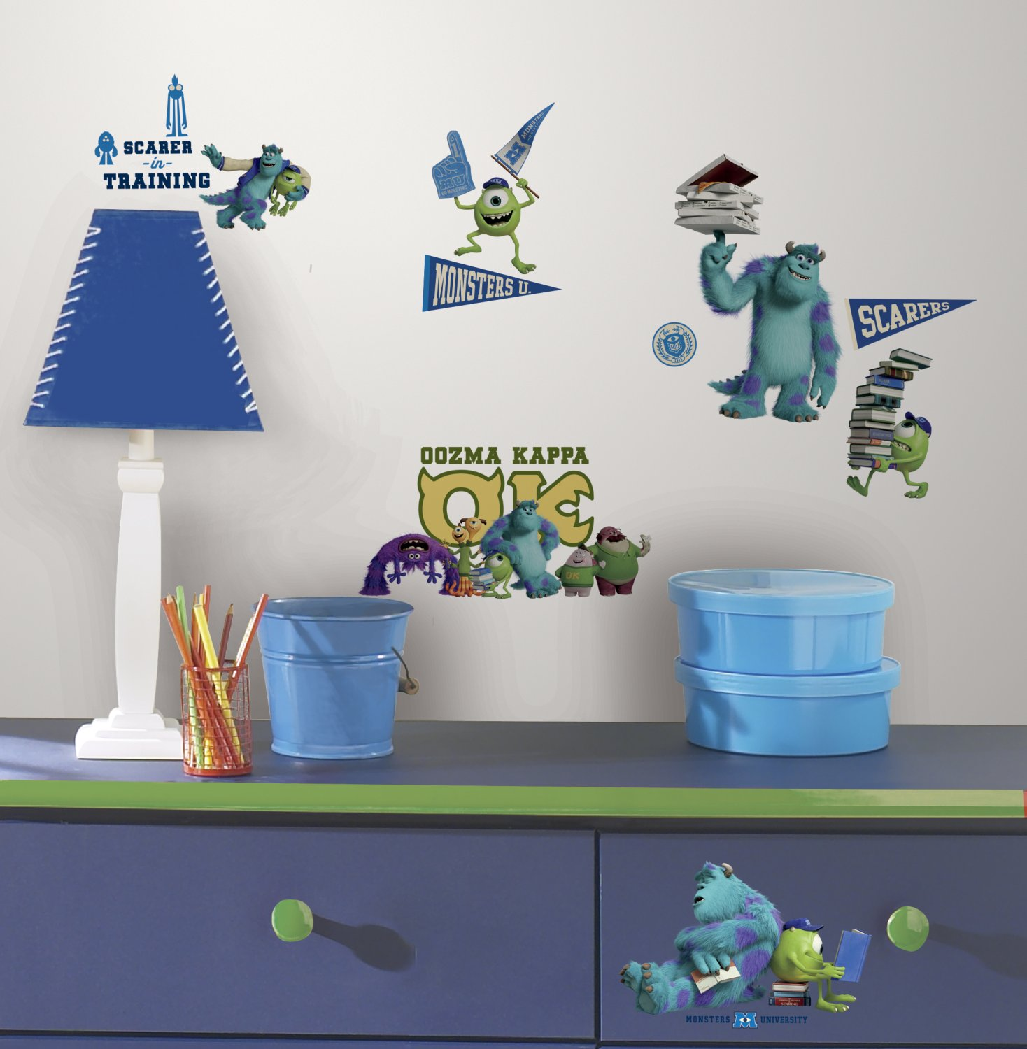 Roommates Rmk2243Scs Monsters University Peel And Stick Wall Decals    Decorative Wall Appliques   Amazon.com Part 15
