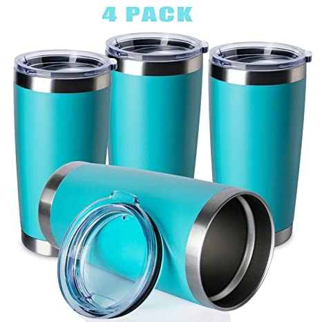 ONEB 20oz Double Wall Vacuum Insulated Travel Mug Stainless Steel Tumbler with Lid Army Green, 1 Pack Durable Powder Coated Insulated Coffee Cup for Cold /& Hot Drinks