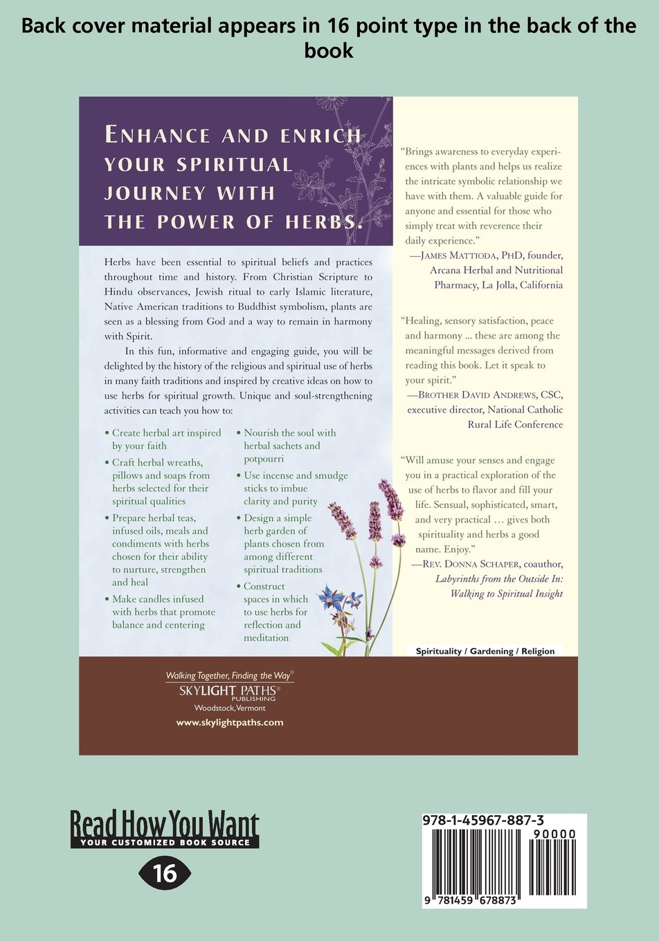 Everyday Herbs In Spiritual Life A Guide To Many Practices Micheal