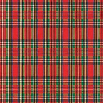 Plaid >> Tartan Plaid Christmas Red And Green Gift Wrap Roll 24 X 15