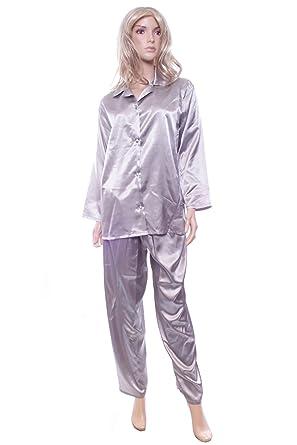 Silver Satin Pajamas
