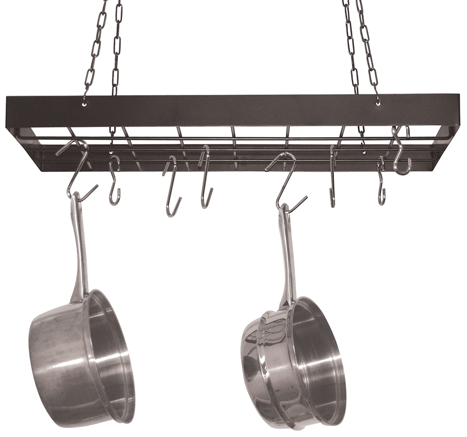 hanging pot rack hanging pot rack pan hanger cookware storage pots pans 29521