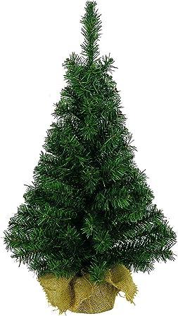 Albero Di Natale 75 Cm.Albero Di Natale Artificiale Con Base Rivestita Di Iuta Verde 75cm 2 5ft Fizzco Amazon It Casa E Cucina