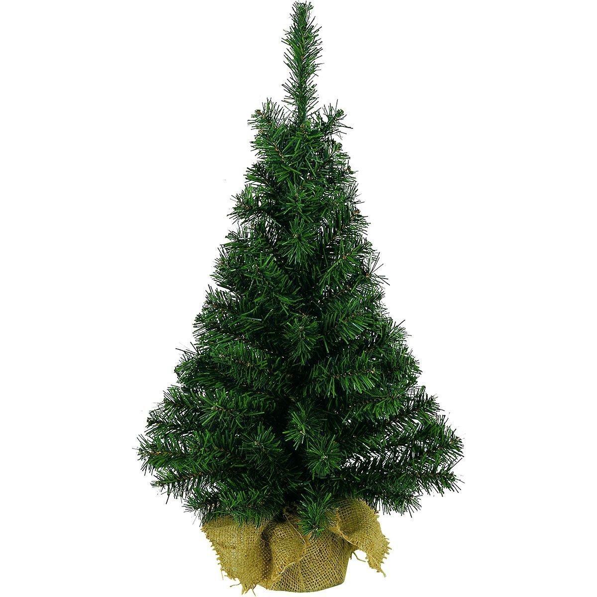 Artificial Green Tree In Jute Bag - 45cm Fizzco