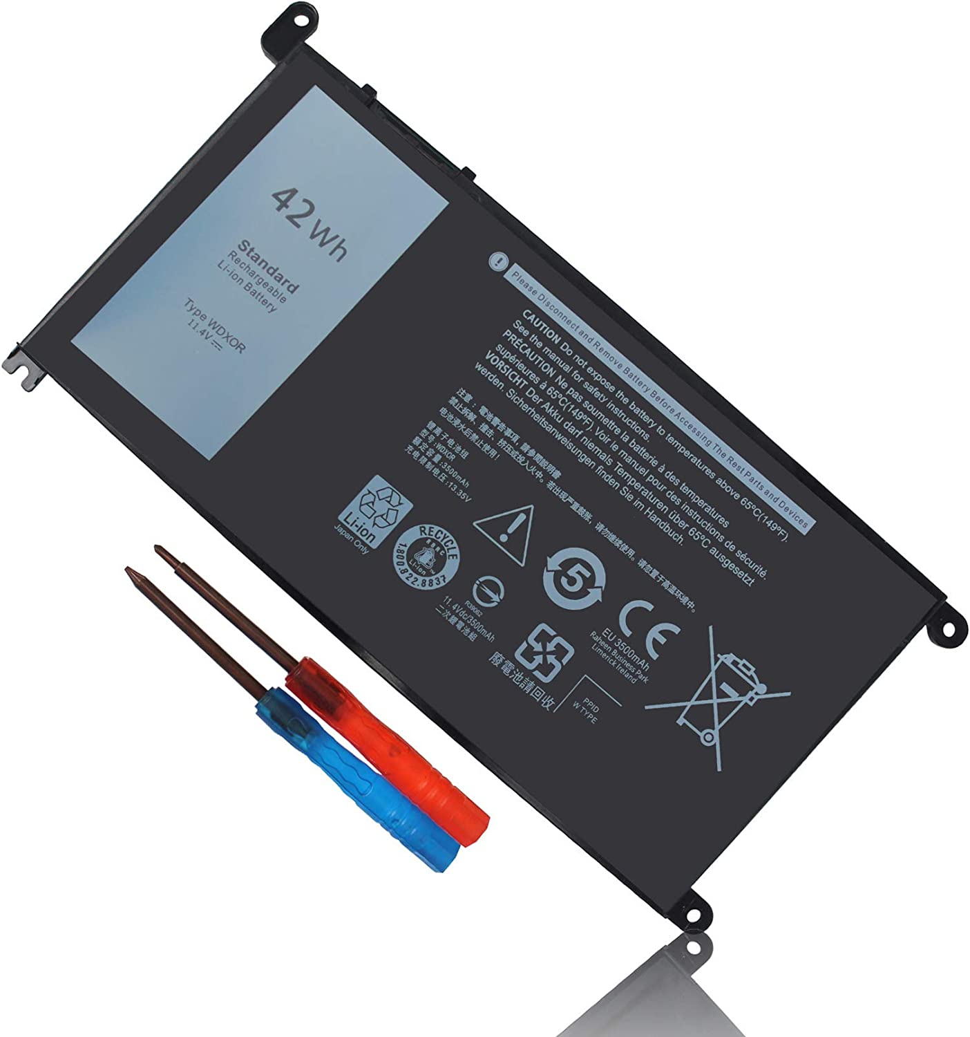 Gomarty WDX0R WDXOR Laptop Battery for Dell Inspiron 13 5378 7368 5379 5368 7378 14-7460 Inspiron 15 5568 7560 5567 Inspiron 17 5767 5770 3CRH3 T2JX4 FC92N CYMGM