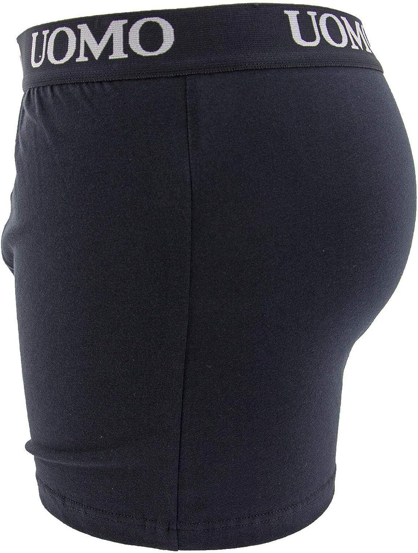 Confezione da 6 Pezzi Boxer Uomo Slip Mutande Intimo Cotone Elastico Colori Assortiti Bianco Nero Blu Grigio Taglia M 5XL