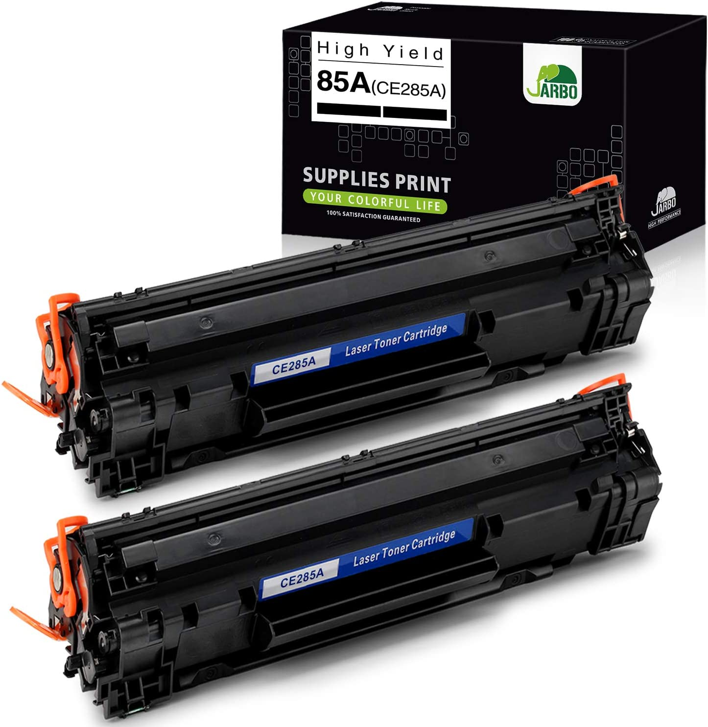 JARBO Compatible Toner Cartridges Replacement for HP 85A CE285A, Compatible with HP Laserjet Pro P1102W P1109W M1212NF M1217NFW Printer (Black), 2-Pack