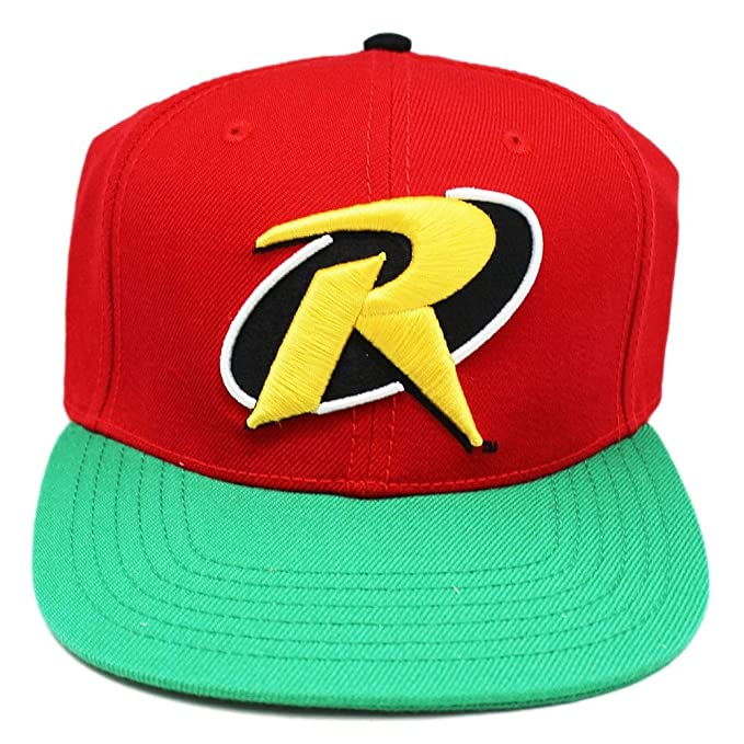 Dc Comics Robin R Symbol Red Green And Yellow Colored Snapback Cap