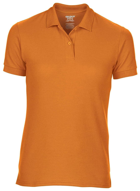 8eb25b40 Gildan GD70 femme humidité 65/35 dryblend ® Polyester Double piqué Polo de  sécurité Orange Taille XL Polos Fantaisie