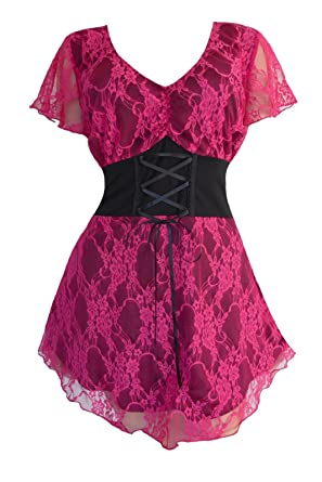 3ffce197ef5 Dare to Wear Victorian Gothic Boho Women s Plus Size Sweetheart Corset Top  Orchid S