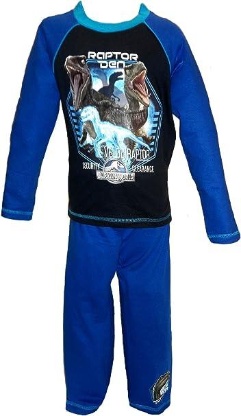 Boys Official Jurassic World Dinosaur Pyjamas Age 4-10 Years