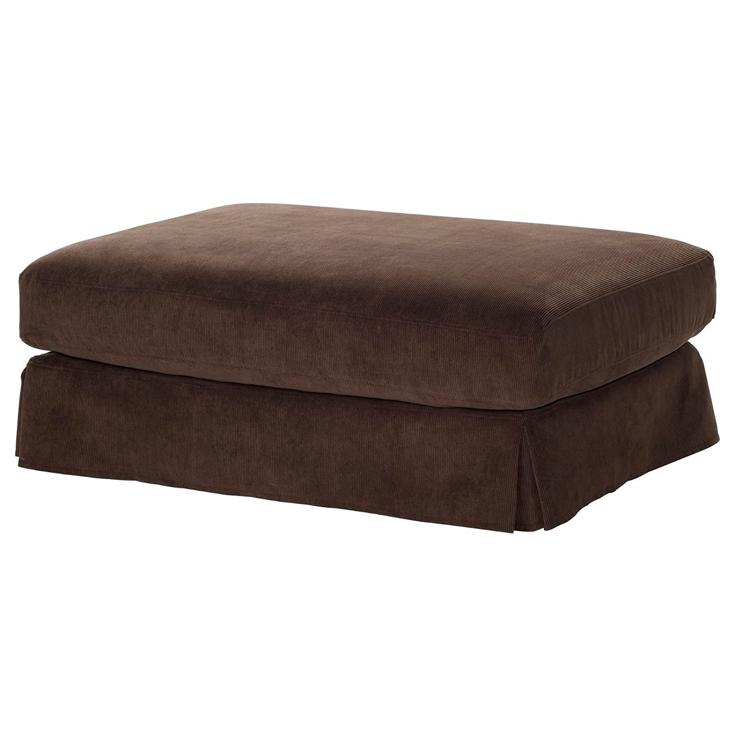 Amazon Ikea Hovas Slipcover Cover for Footstool Graddo Brown