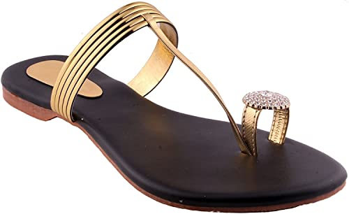 71ec275f5 BFM Fancy Kolhapuri Leather Sandal for Women or Girls
