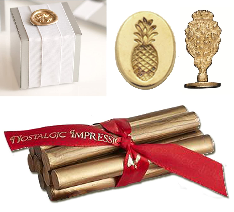 Amazon.com: Wedding Wax Seal Kit-Gold Glue Gun Wax & Pineapple ...