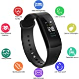 Fitness Tracker,Waterproof IP67 Color Display Screen Activity Sports Bracelet With Heart Rate/Blood Pressure Monitor Pedometer Smart Wristband for Andriod and iOS