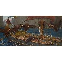 Ulisses e as Sereias Cena de Odisseia de Homero Como Resistir ao Canto da Sereia 1891 Pintura de John William Waterhouse na Tela em Vários Tamanhos