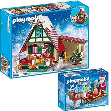 Playmobil Weihnachten.Playmobil Weihnachten 2 Teiliges Set 5976 Zuhause Beim