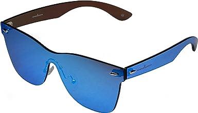 amoloma estilo sin marco sin rebordes de las gafas de sol Wayfarer azul reflejado