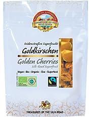 Cerezas amarillas doradas secas sin azucar añadido Bio 700g de Comercio Justo deshidratadas ecológicas orgánicas 100% naturales crudos Bio organic dried Fairtrade cherries unsweetened 7x100g