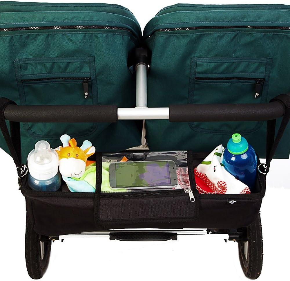 Negro Bolsa organizadora BTR para cochecitos de beb/é o sillas de paseo dobles o gemelar