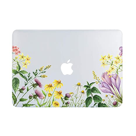 buy popular b83ce 29150 Amazon.com: Wildflower MacBook Air 13 Inch Case 2018 2019, Purple ...
