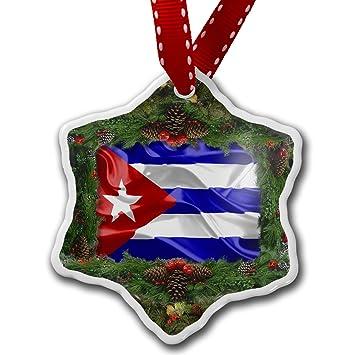 Amazon.com: Christmas Ornament Cuba 3D Flag - Neonblond: Home & Kitchen