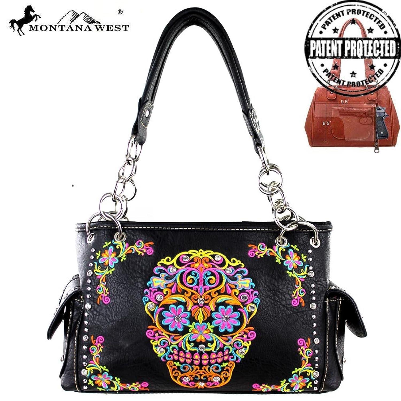 MW326G-8085 Montana West Sugar Skull Collection Handbag
