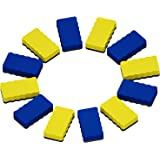 Attmu Magnetic Whiteboard Dry Erasers, 12 Pack - 6 Blue and 6 Yellow, 2.2 x 4 Inches Each