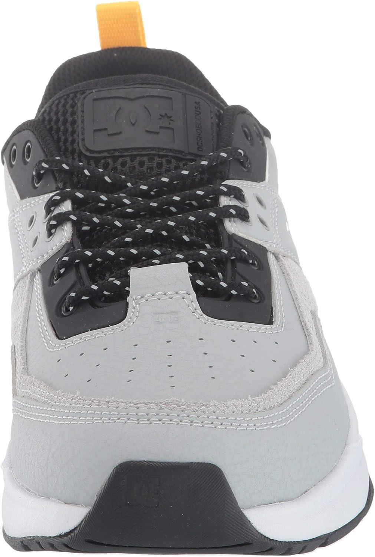 DC Men's E.tribeka Se Skate Shoe Black/Grey/Yellow