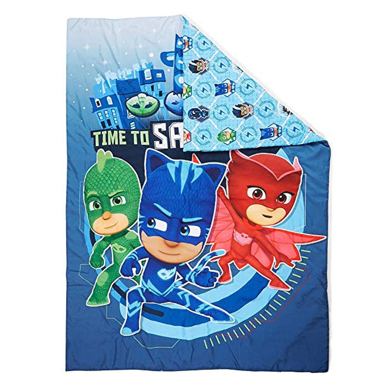 PJ Masks Licensed Toddler Size Comforter Kids Blanket Reversible Design Bedding