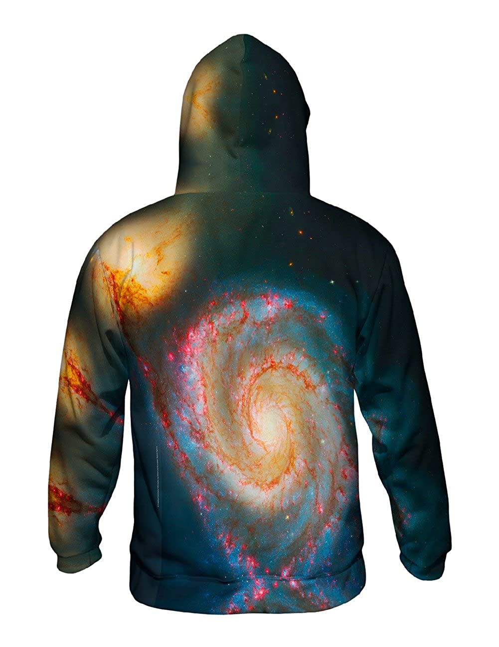 Space Galaxy Messier 51 Allover Print Mens Hoodie Sweater Yizzam