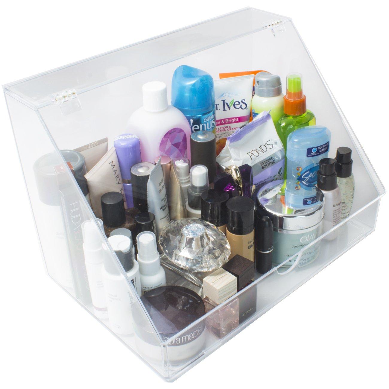 Sorbus - Organizador de almacenamiento y expositor acrílico para maquillaje y cosméticos, brochas, perfumes y productos para el cuidado de la piel, ...