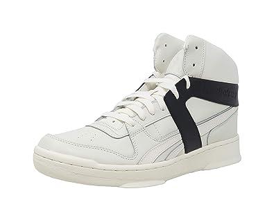 9c5c0e07 Amazon.com   Reebok Bb 5600 Premium Mens White Leather High Top Lace ...