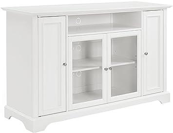 Amazon Com Crosley Furniture Campbell 60 Inch Tv Stand White